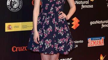 Natalia de Molina, con vestido floral