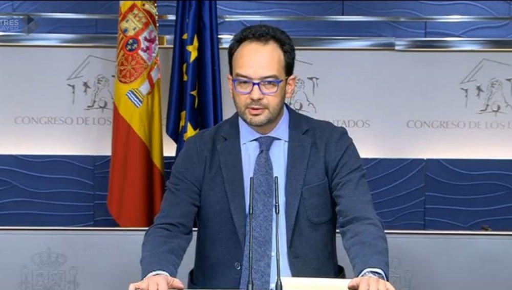 Antonio Hernando, portavoz parlamentario del PSOE