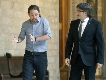 Encuentro de Iglesias y Puigdemont