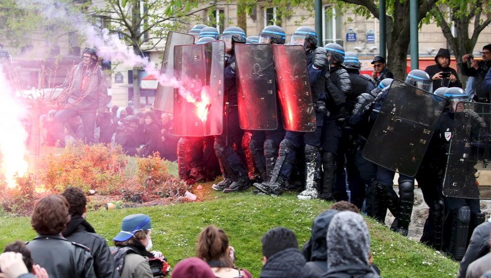 Incidentes en París en las protestas contra la reforma laboral