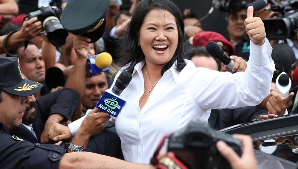 La candidata presidencial peruana por el partido Fuerza Popular, Keiko Fujimori