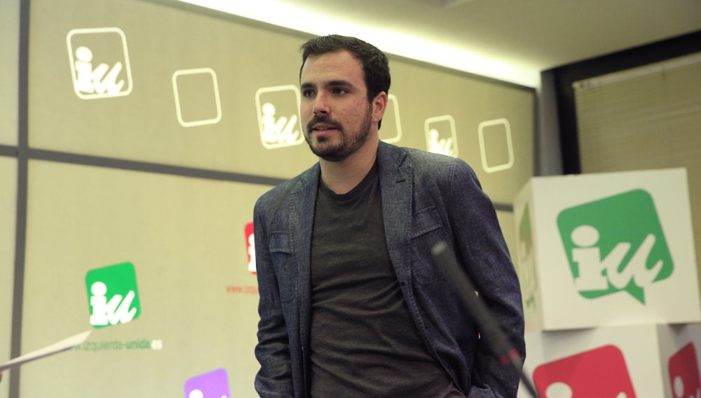 El portavoz parlamentario de IU, Alberto Garzón