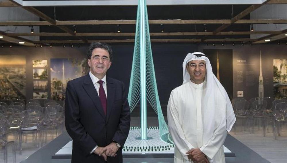 Emaar Mohamed Alabbar con Santiago Calatrava