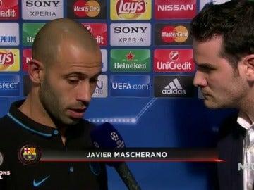 """Frame 11.246667 de: Mascherano: """"El Atlético ha reducido mucho nuestro juego"""""""