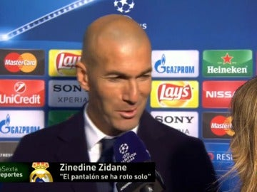 Zidane atiende a Susana Guasch
