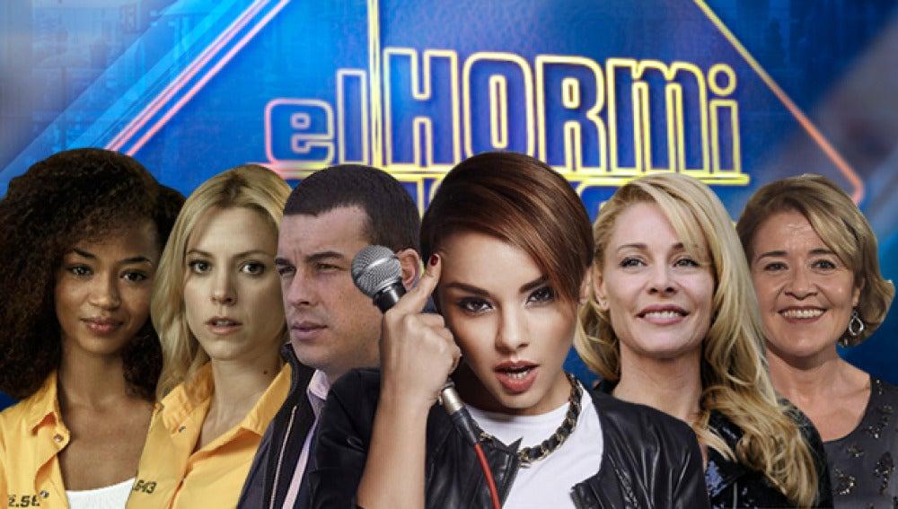 Mario Casas, Maggie Civantos y Berta Vázquez, Chenoa y Belén Rueda y María Pujalte en 'El Hormiguero 3.0'