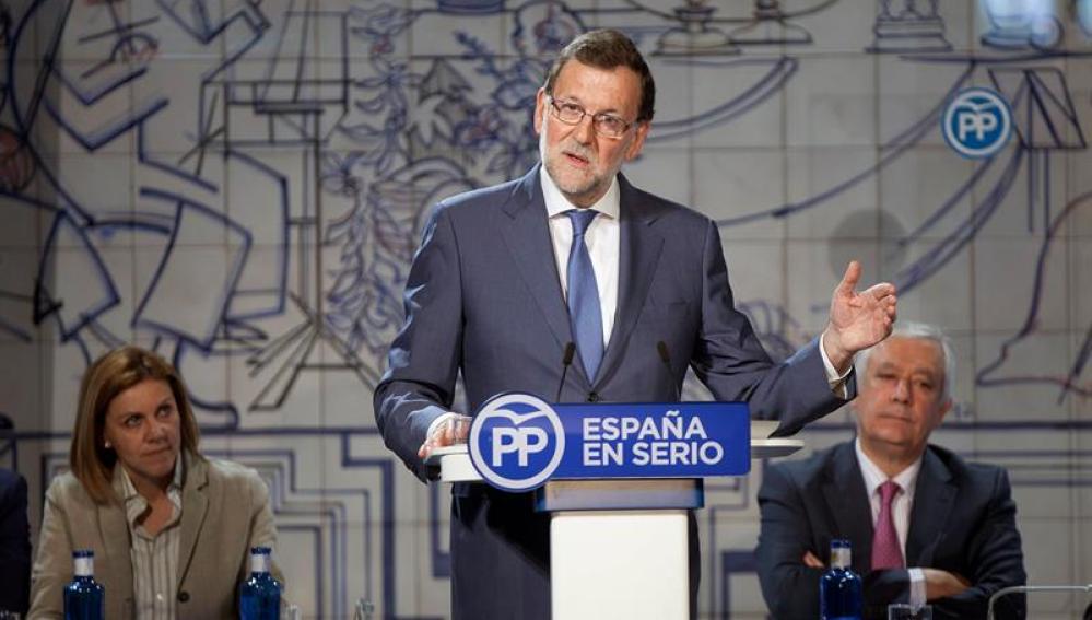 Mariano Rajoy durante un acto