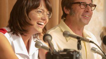 Emma Stone y Steve Carell en 'Battle of the sexes'