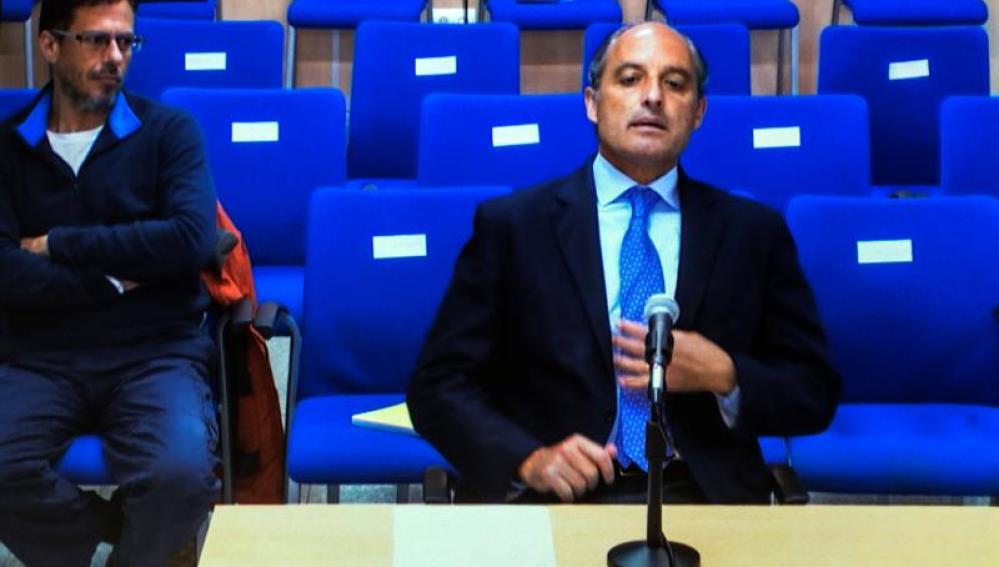 Camps, durante su declaración como testigo en el juicio del caso Nóos
