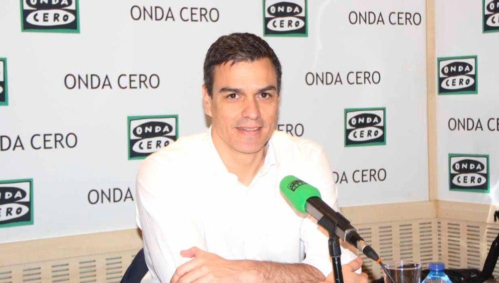 Pedro Sánchez durante una entrevista en Onda Cero