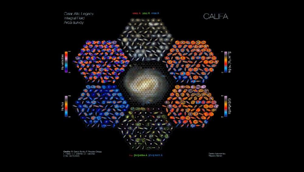 Mapa de las galaxias, Califa