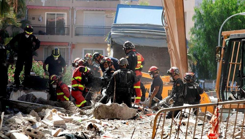 Derrumbe de un edificio en Tenerife