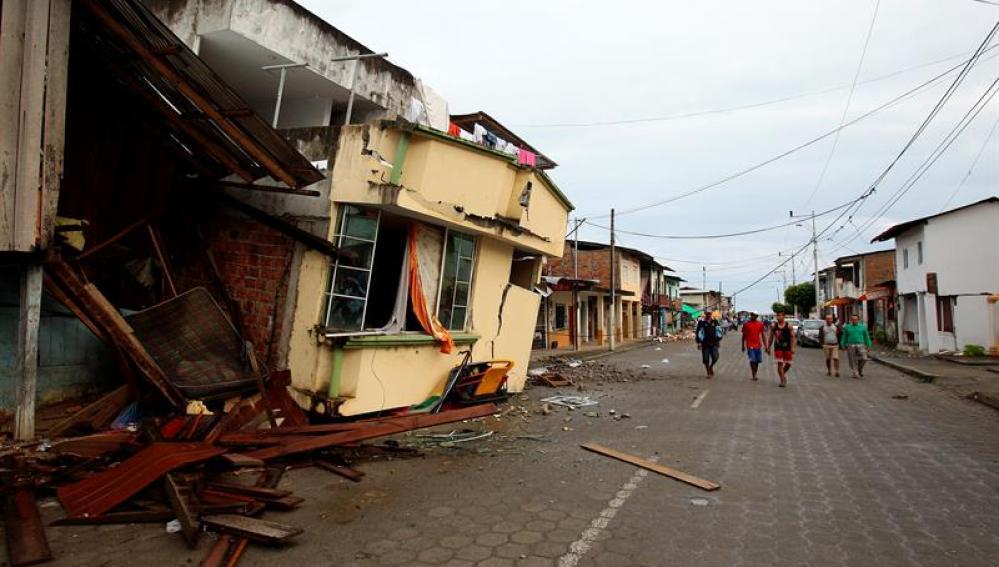 Estado en el que se encuentran los edificios de Pedernales, en Ecuador