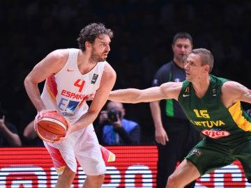 Gasol, en un partido del Eurobasket 2015