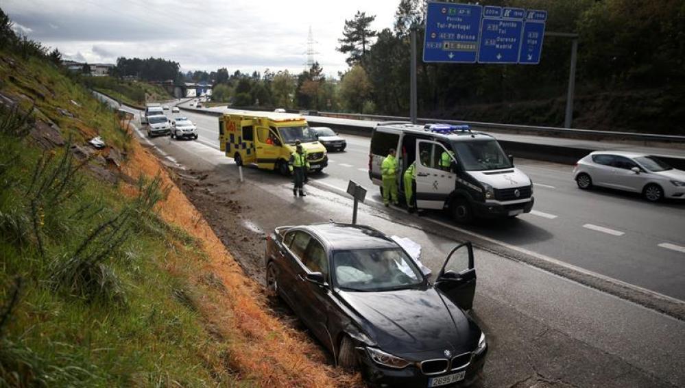 Accidente en la AP-9 a la altura de Vigo