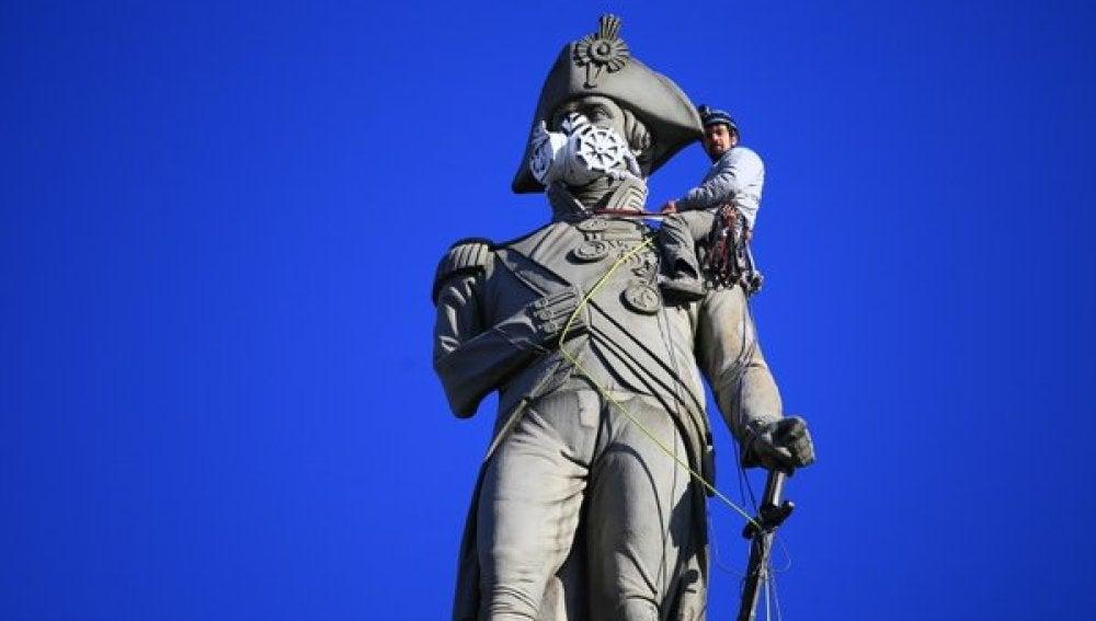 La estatua de Lord Nelson en Londres