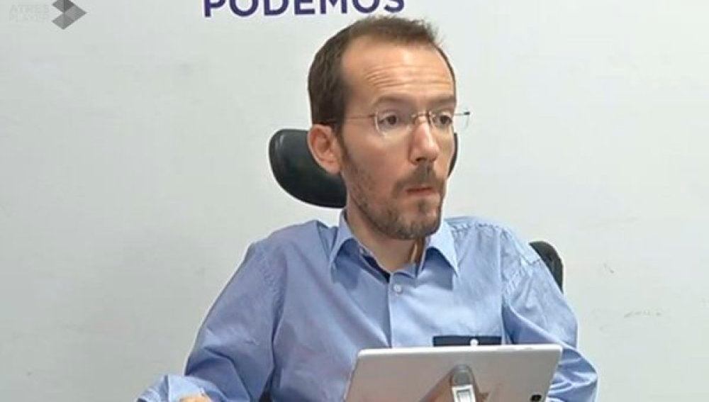 Pablo Echenique durante una rueda de prensa