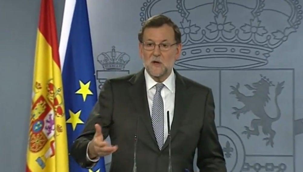 Mariano Rajoy, en la rueda de prensa