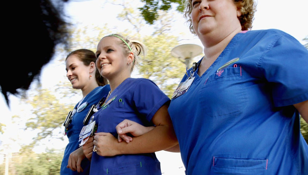 Enfermeras en un hospital