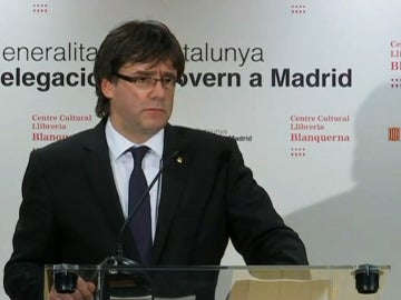 Carles Puigdemont en rueda de prensa