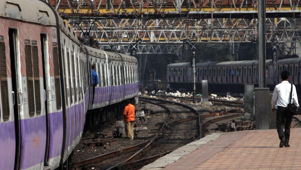 Estación de tren en India