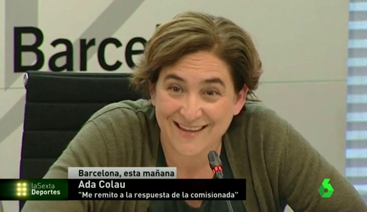 Frame 1.795688 de: Ada Colau deja claro que no tiene nada en contra de la selección española