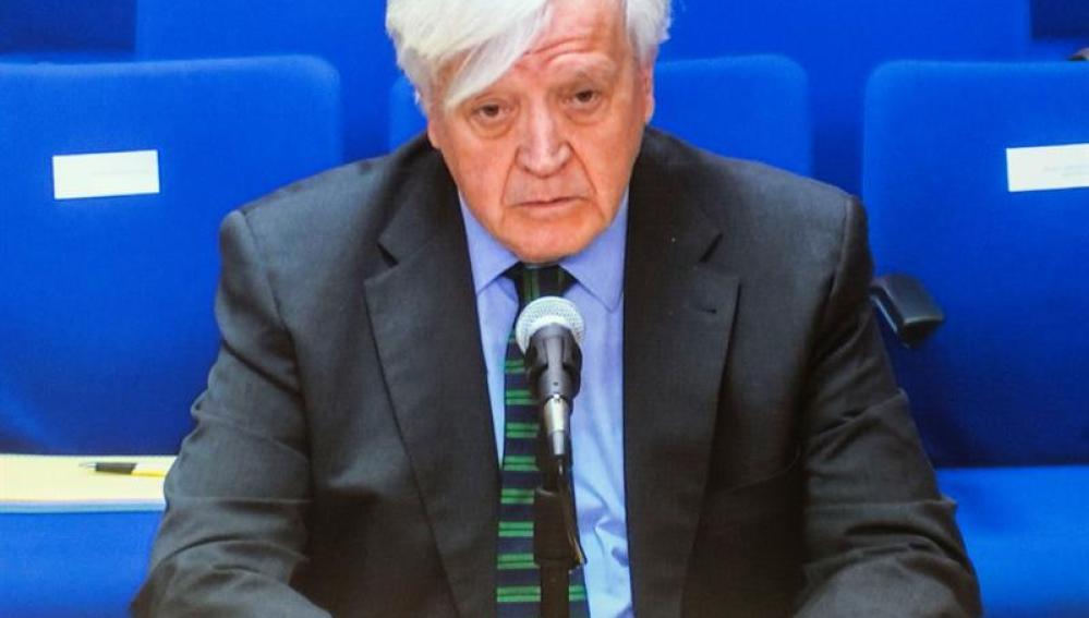 José Manuel Romero durante su declaración hoy como testigo en el caso Nóos