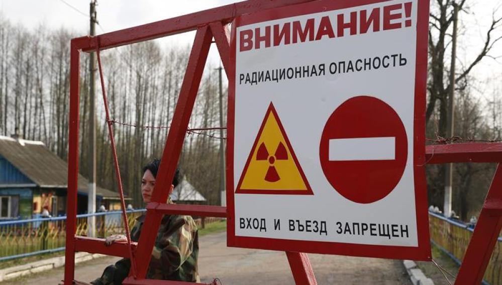 Zona de exclusión a 30 kilómetros del reactor nuclear de Chernóbil