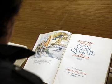 Un ejemplar de 'Don Quijote de La Mancha'