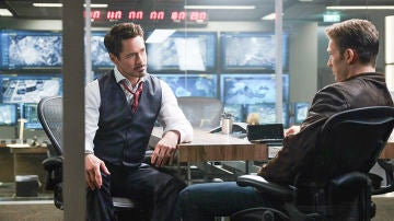 Robert Downey Jr y Chris Evans en 'Capitán América: Civil War'