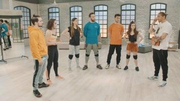 Ensayos en la academia de 'Top Dance'
