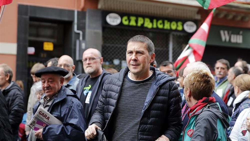 Otegi en la manifestación de expresos y antiguos huidos de ETA