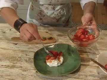 Fresas con queso fresco de Bárbara Amorós