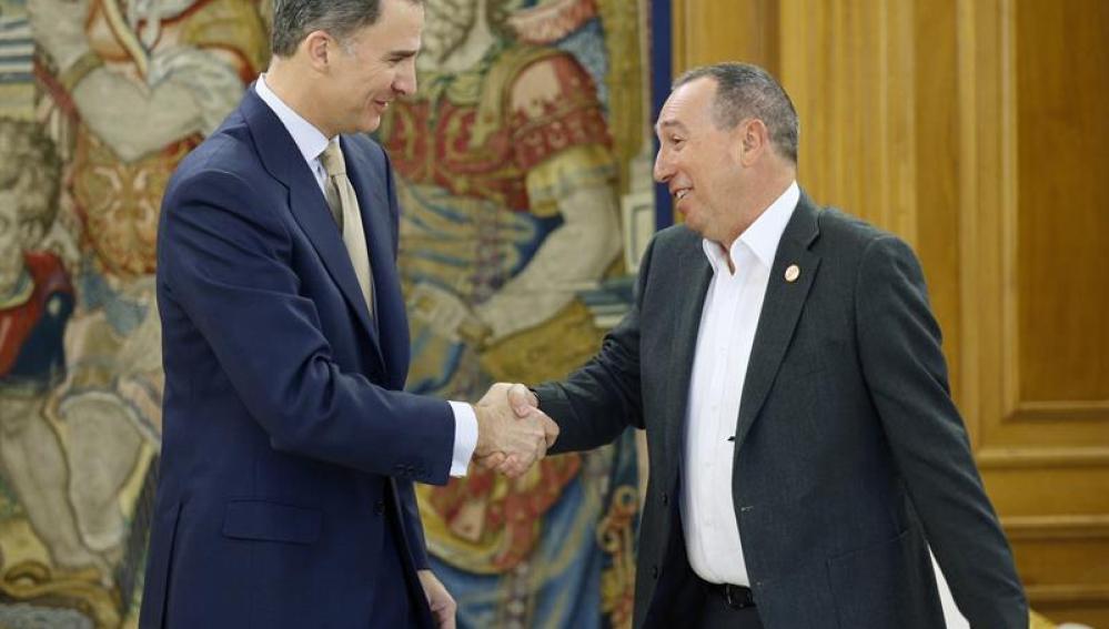Felipe VI recibe al portavoz en el Congreso de Compromís, Joan Baldoví