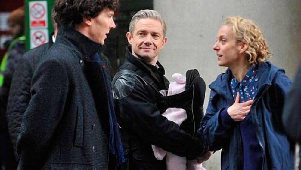 Rodaje de 'Sherlock'