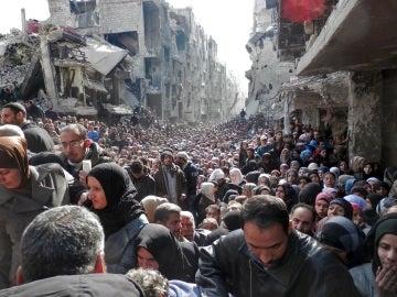 La población de Siria, desesperada