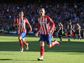 Antoine Griezmann celebra un gol ante el Rayo