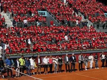 Casi 2.400 personas baten un récord Guinness en el Mutua Madrid Open