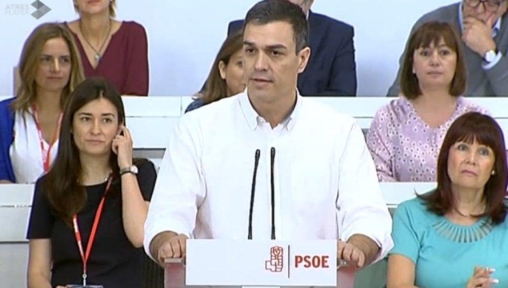 Pedro Sánchez en el Comité del PSOE