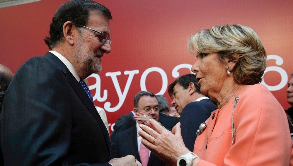 Mariano Rajoy y Esperanza Aguirre