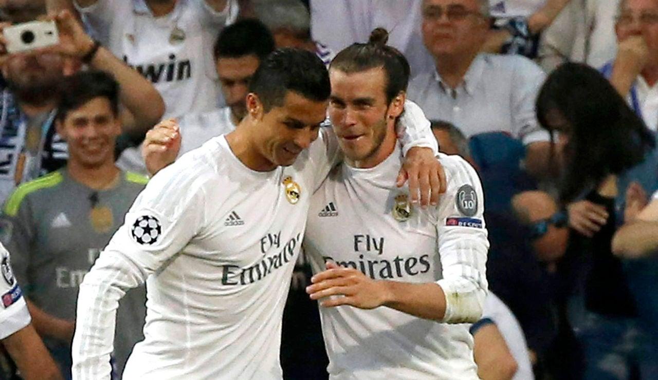 Cristiano y Bale festejando el gol del galés