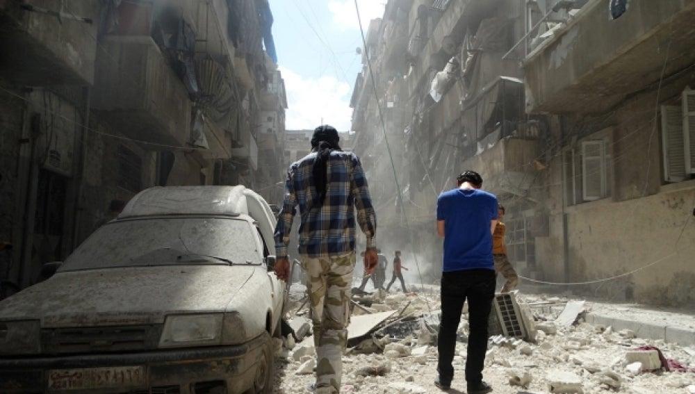 Zona de ataque en Alepo
