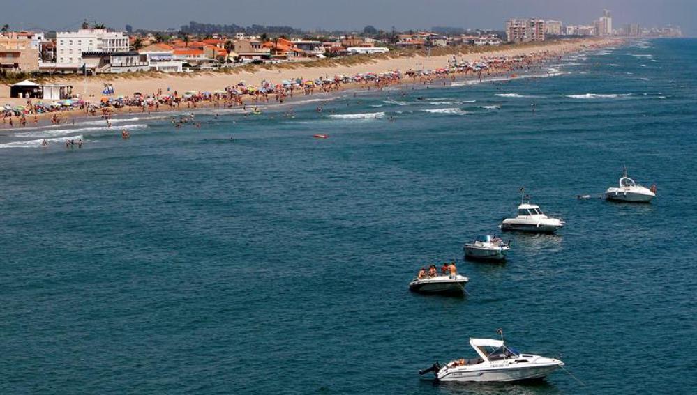 Vista de la playa de Cullera, en Valencia