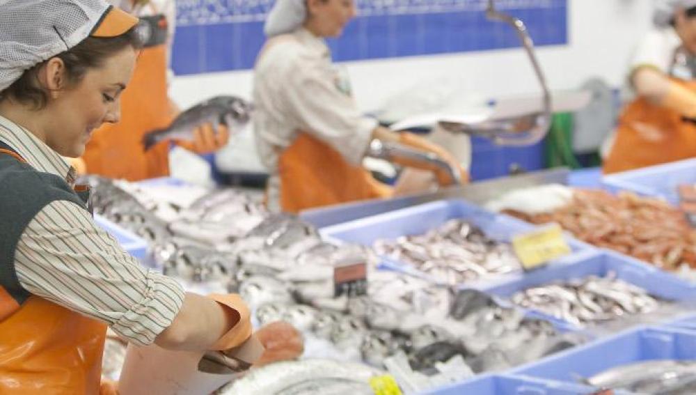 Trabajadores en Mercadona