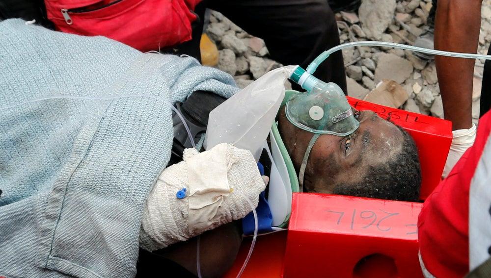 La mujer rescatada en Nairobi
