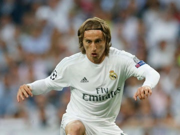 Luka Modric, durante el partido del Bernabéu
