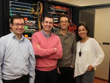 Los profesores del CEU, Javier Muñoz, Francisco Zamora, Juan Pardo y Paloma Botella