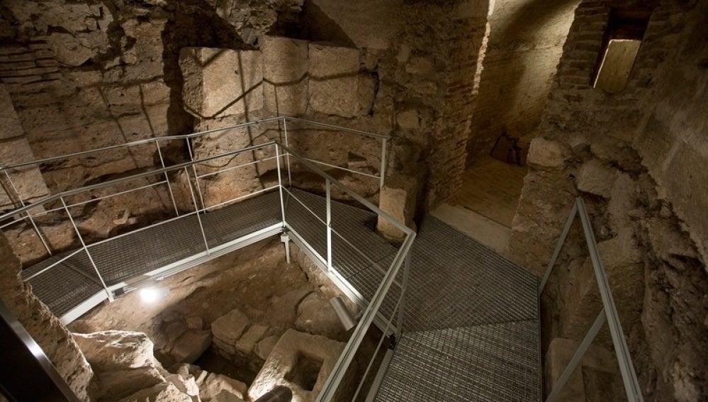 Restos romanos bajo la catedral de Valencia
