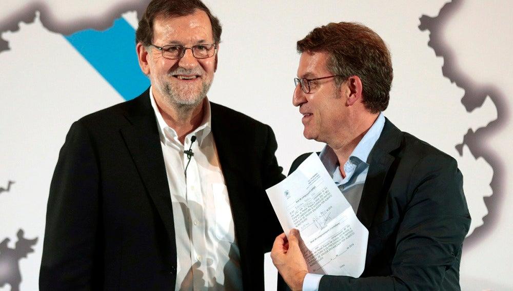 Mariano Rajoy y Núñez Feijóo