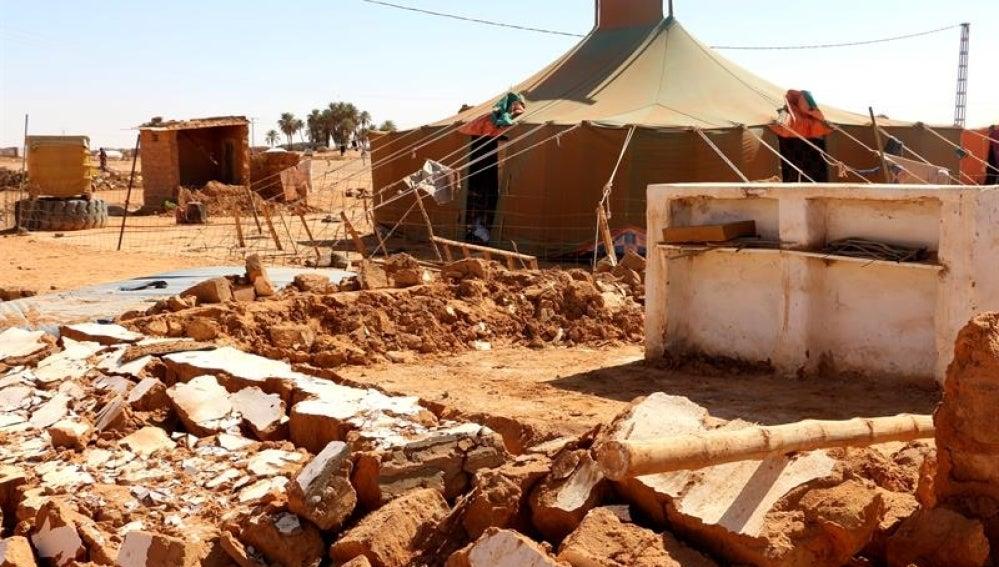 Vista general del campo de refugiados saharaui, en el desierto occidental de Argelia